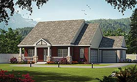 House Plan 80472 | Traditional Style Plan with 2166 Sq Ft, 3 Bedrooms, 2 Bathrooms, 3 Car Garage Elevation