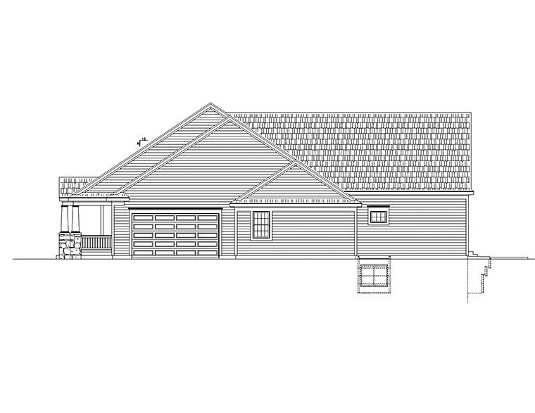 Traditional House Plan 80472 with 3 Beds, 2 Baths, 3 Car Garage Picture 1