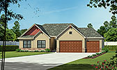 Plan Number 80486 - 1750 Square Feet