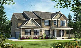 Country , Traditional House Plan 80493 with 4 Beds, 4 Baths, 2 Car Garage Elevation