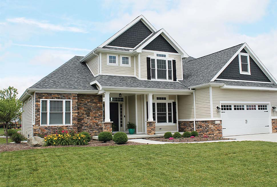 Craftsman, Traditional House Plan 80496 with 4 Beds, 3 Baths, 2 Car Garage Picture 1
