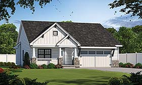 Plan Number 80498 - 1356 Square Feet