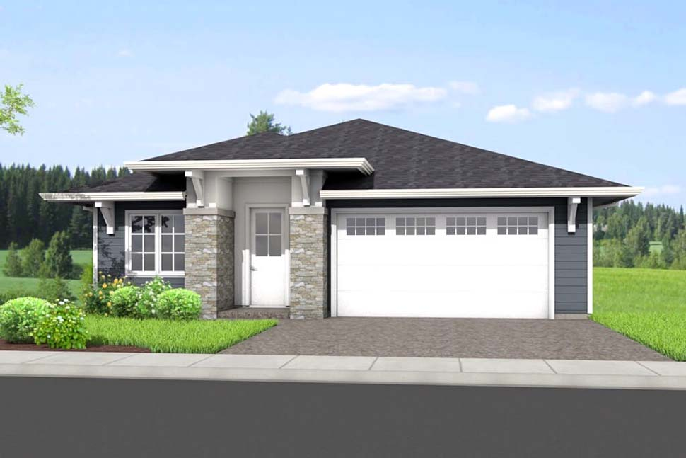 Ranch House Plan 80505 with 4 Beds, 3 Baths, 2 Car Garage Picture 1