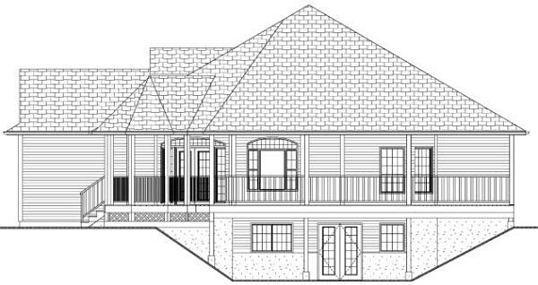 Country, Traditional House Plan 80507 with 3 Beds, 2 Baths, 2 Car Garage Picture 1