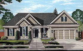Traditional House Plan 80600 with 3 Beds, 3 Baths, 2 Car Garage Elevation