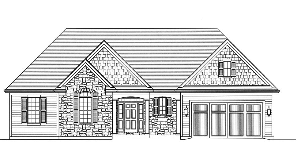 Traditional House Plan 80600 with 3 Beds, 3 Baths, 2 Car Garage Picture 3