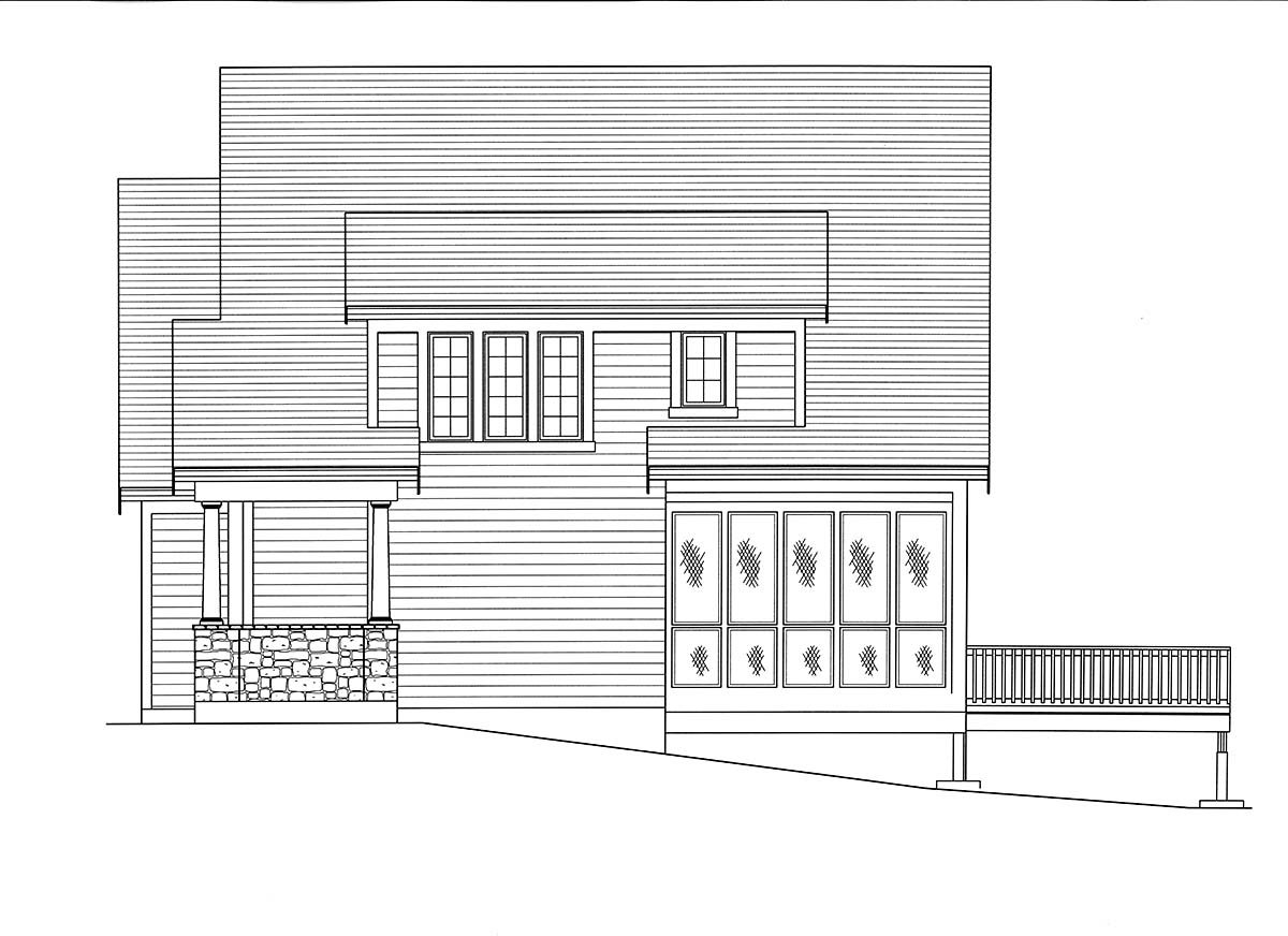 Cape Cod, Coastal, Contemporary, Country, Farmhouse House Plan 80601 with 3 Beds, 4 Baths, 3 Car Garage Picture 1
