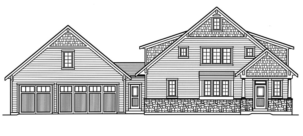 Cape Cod, Coastal, Contemporary, Country, Farmhouse House Plan 80601 with 3 Beds, 4 Baths, 3 Car Garage Picture 3