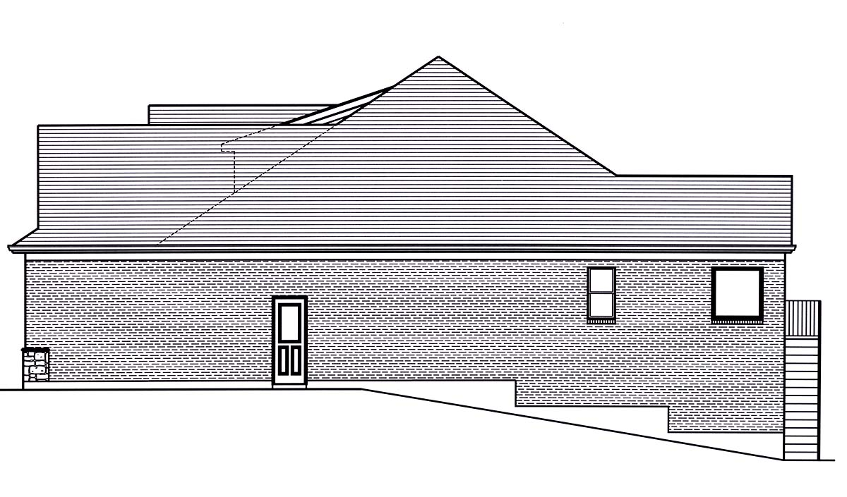 Craftsman, Ranch, Traditional House Plan 80602 with 3 Beds, 2 Baths, 2 Car Garage Picture 1