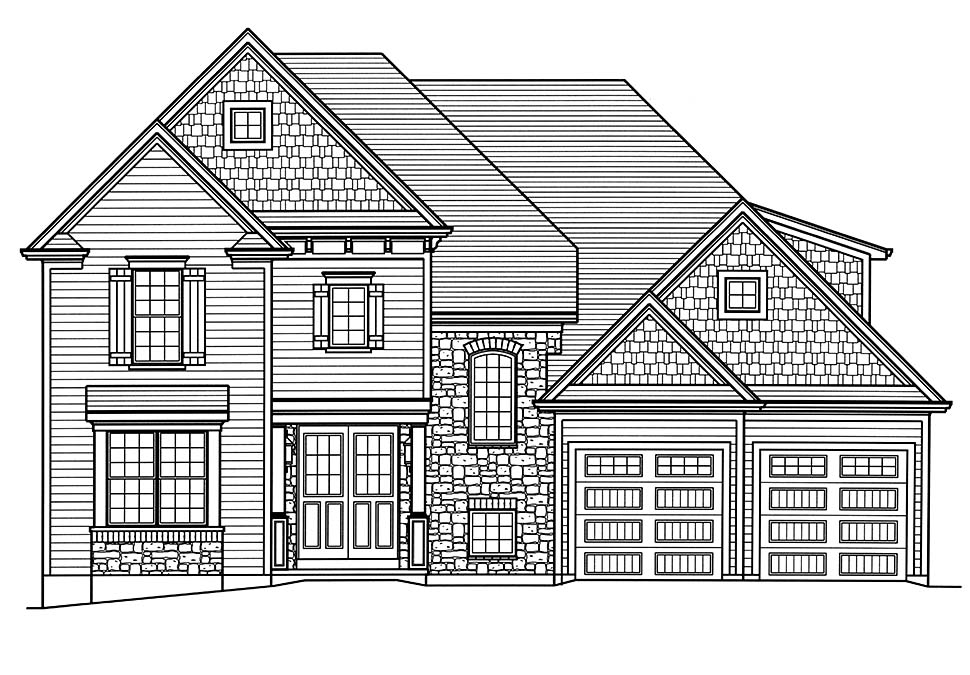 European, Traditional House Plan 80604 with 4 Beds, 4 Baths, 2 Car Garage Picture 3