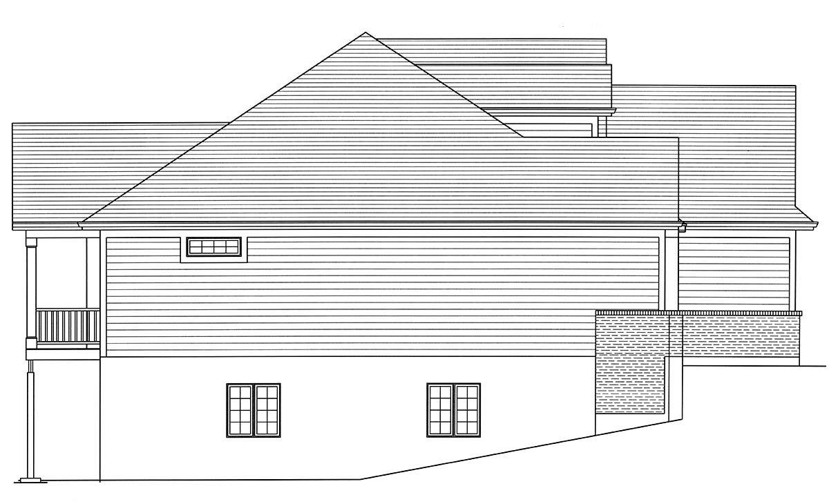 Cottage, European, Ranch, Traditional House Plan 80605 with 3 Beds, 2 Baths, 2 Car Garage Picture 2
