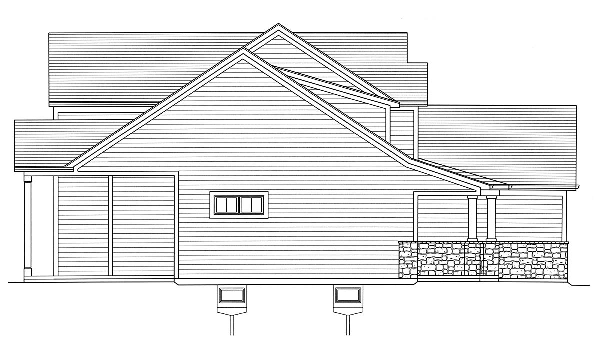 Country, Craftsman, European, Farmhouse House Plan 80608 with 4 Beds, 3 Baths, 2 Car Garage Picture 2