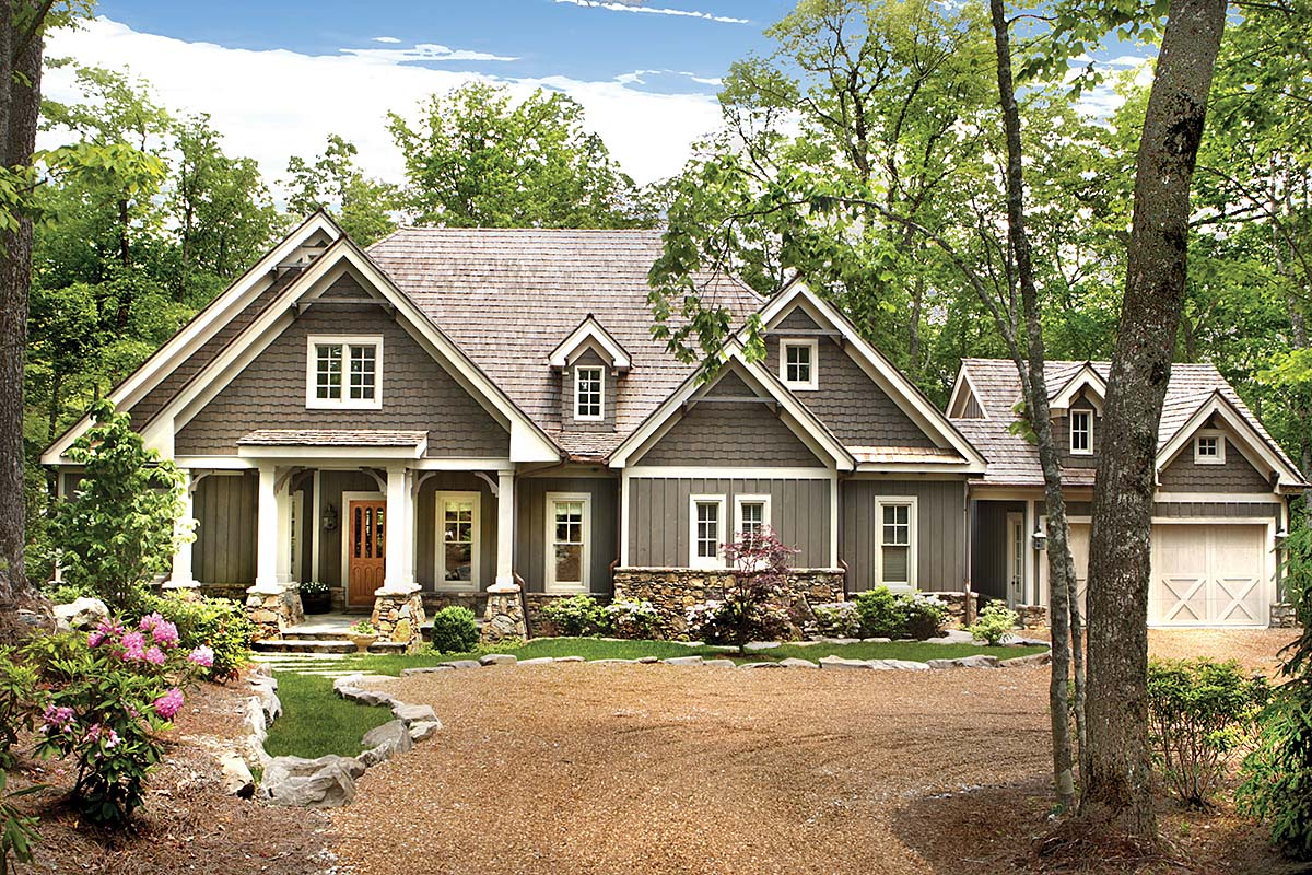 Craftsman, Farmhouse House Plan 80704 with 4 Beds, 5 Baths, 2 Car Garage Elevation