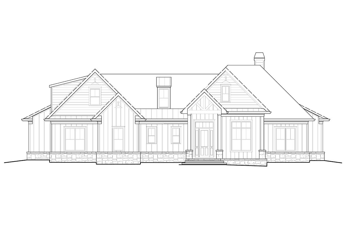 Country, Farmhouse, Ranch, Southern House Plan 80715 with 5 Beds, 4 Baths, 2 Car Garage Picture 1