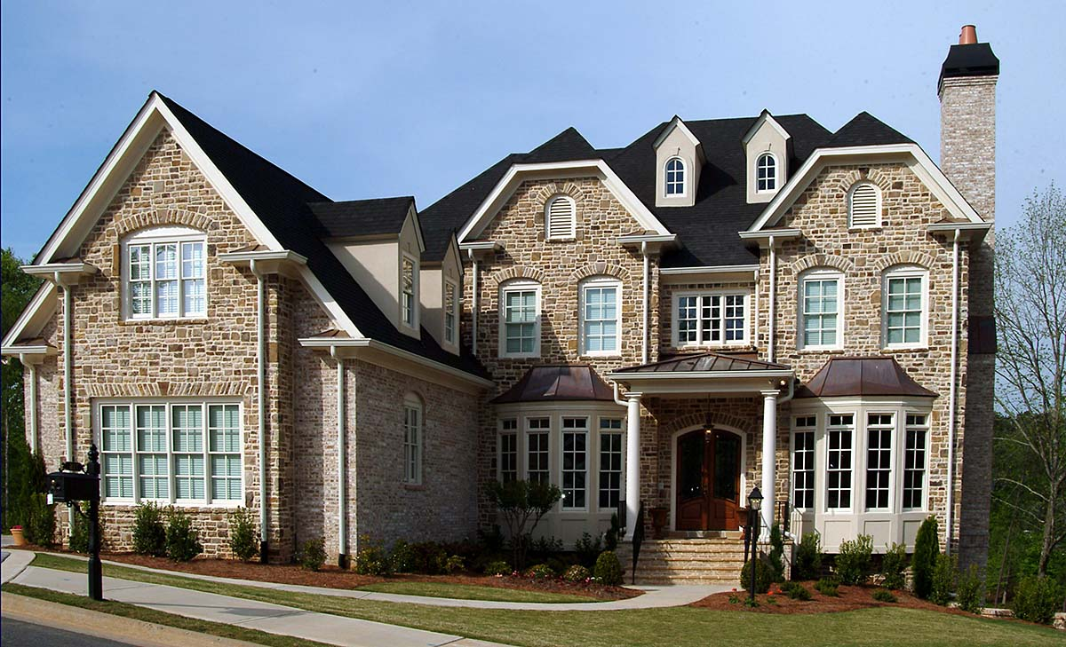 Traditional House Plan 80733 with 5 Beds, 5 Baths, 3 Car Garage Elevation