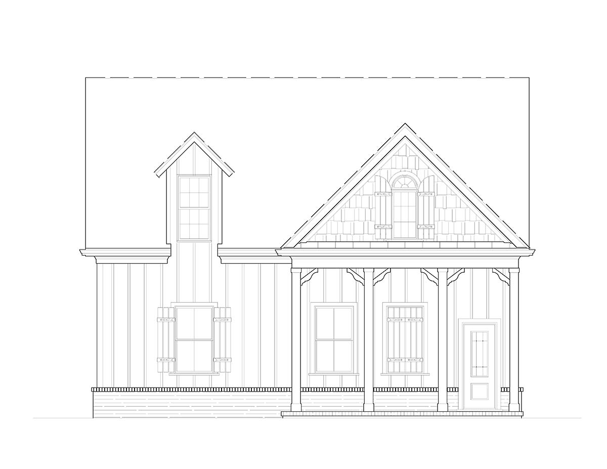 Cottage, Craftsman 2 Car Garage Plan 80738 Picture 1
