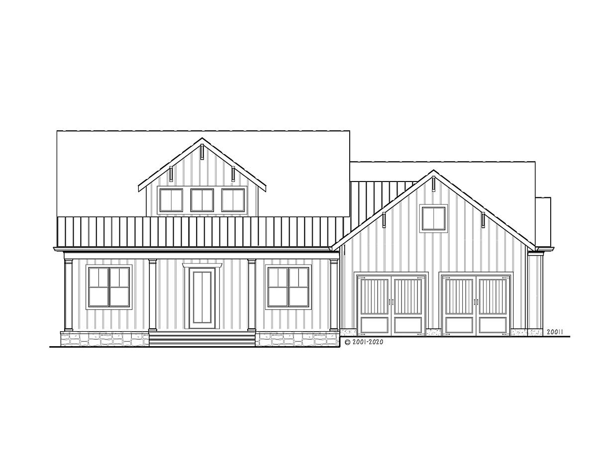 Farmhouse, Ranch House Plan 80740 with 3 Beds, 2 Baths, 2 Car Garage Picture 1
