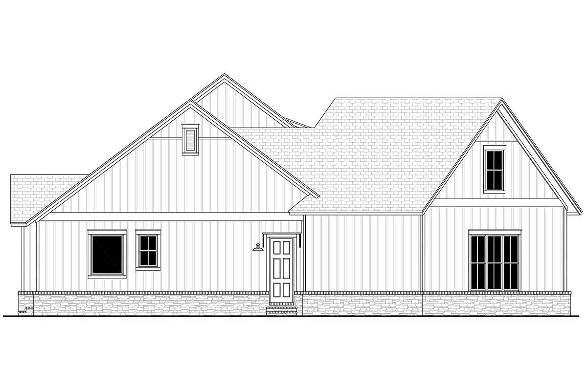 Country, Farmhouse, Traditional House Plan 80803 with 3 Beds, 3 Baths, 2 Car Garage Picture 2