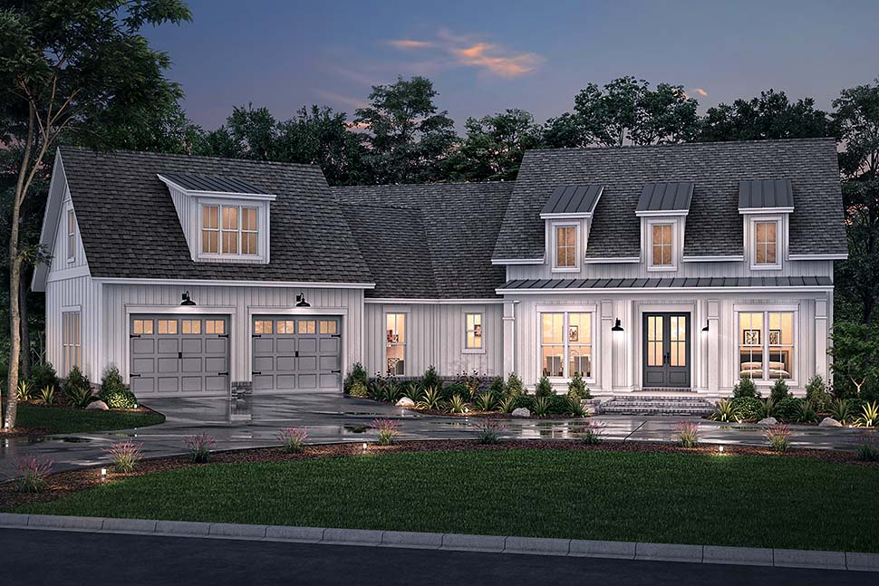Country, Farmhouse, Traditional House Plan 80803 with 3 Beds, 3 Baths, 2 Car Garage Picture 4