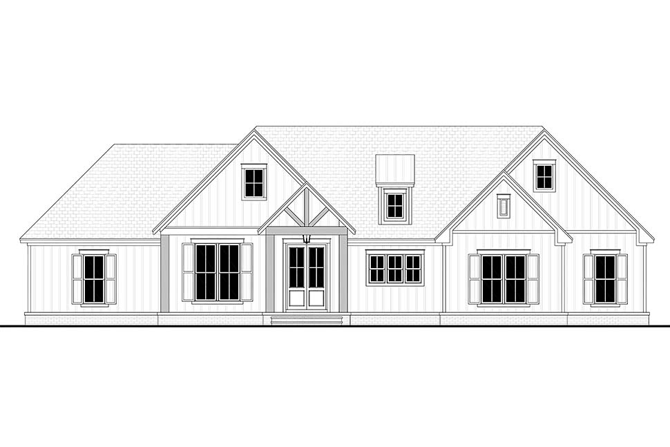 Country, Farmhouse, Southern, Traditional House Plan 80805 with 3 Beds, 3 Baths, 2 Car Garage Picture 3