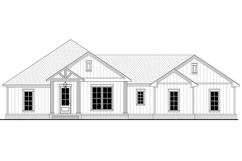 Country, Farmhouse, Ranch House Plan 80806 with 3 Beds, 3 Baths, 2 Car Garage Picture 3