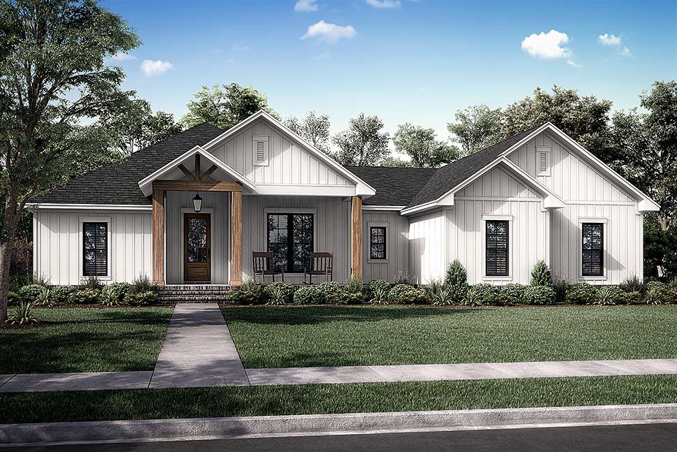 Country, Farmhouse, Ranch House Plan 80806 with 3 Beds, 3 Baths, 2 Car Garage Picture 4