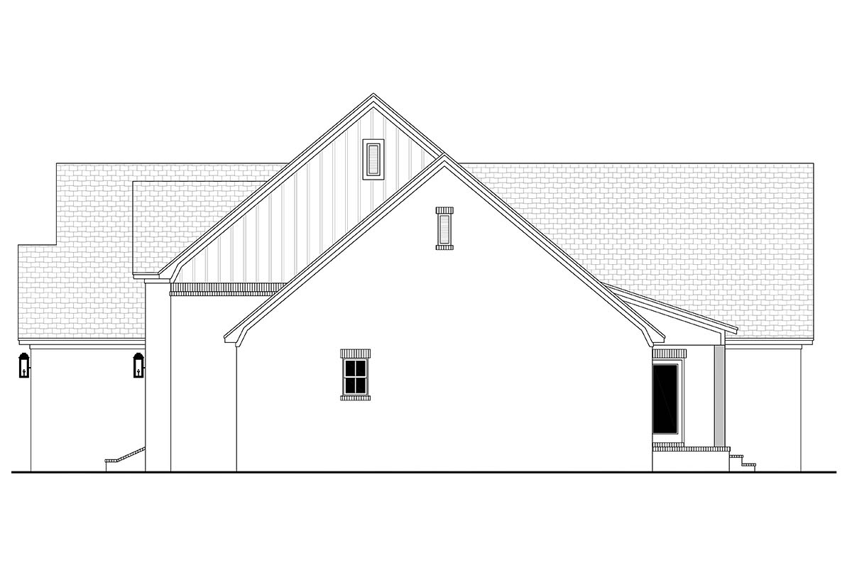 Farmhouse, French Country House Plan 80807 with 3 Beds, 2 Baths, 2 Car Garage Picture 1