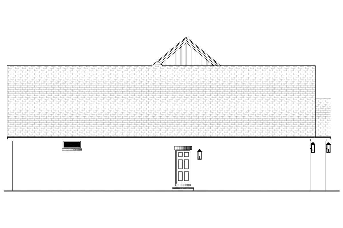 Farmhouse, French Country House Plan 80807 with 3 Beds, 2 Baths, 2 Car Garage Picture 2