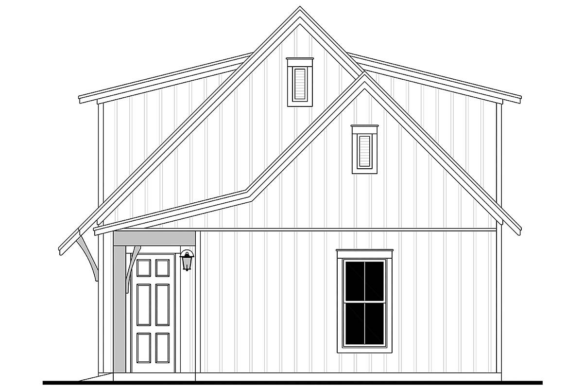 Cottage, Country, Craftsman, Farmhouse 3 Car Garage Apartment Plan 80808 Picture 1