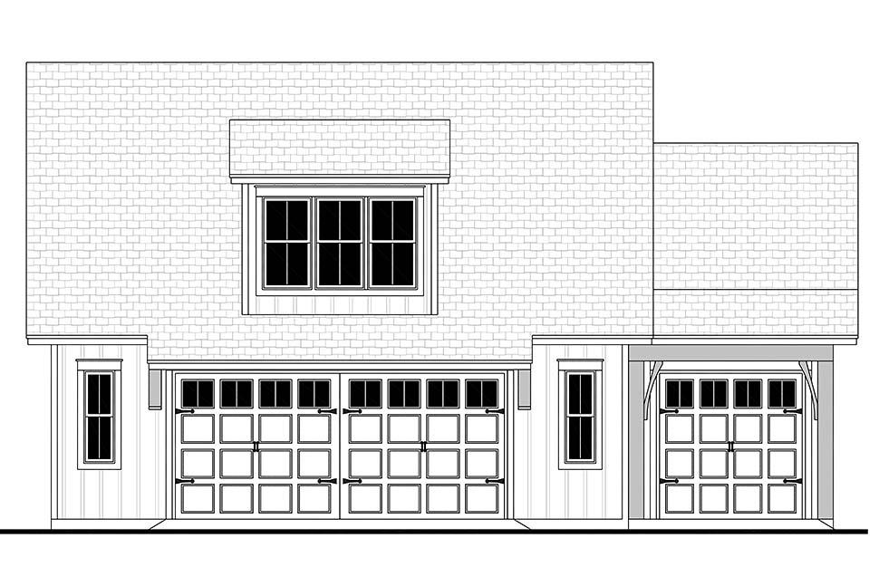 Cottage, Country, Craftsman, Farmhouse 3 Car Garage Apartment Plan 80808 Picture 3