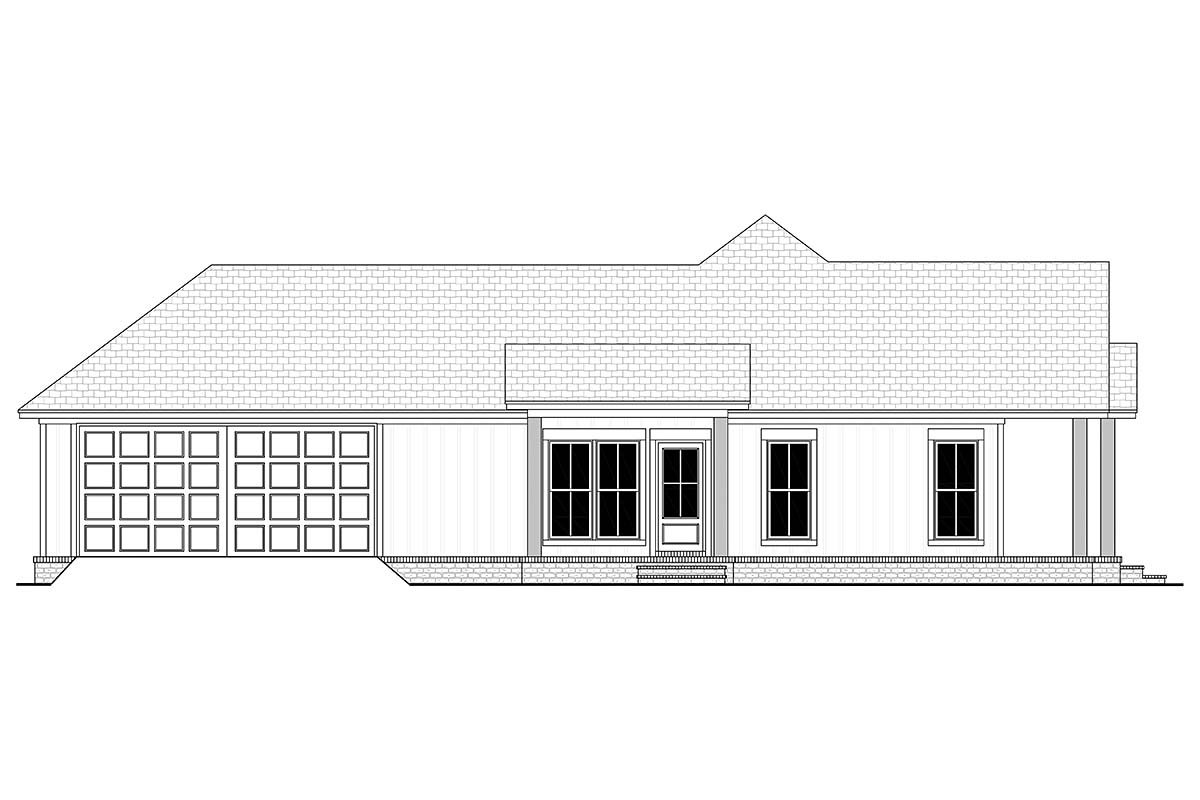 Cottage, Country, Farmhouse House Plan 80811 with 2 Beds, 2 Baths, 2 Car Garage Picture 2