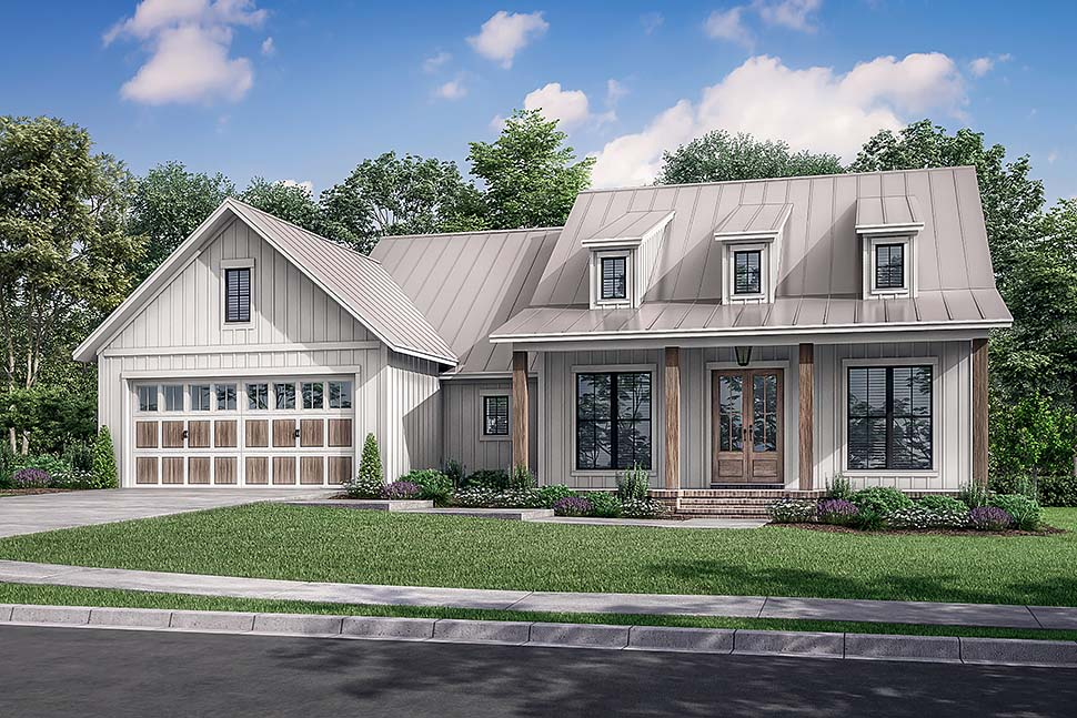 Country, Farmhouse House Plan 80813 with 3 Beds, 2 Baths, 2 Car Garage Picture 4