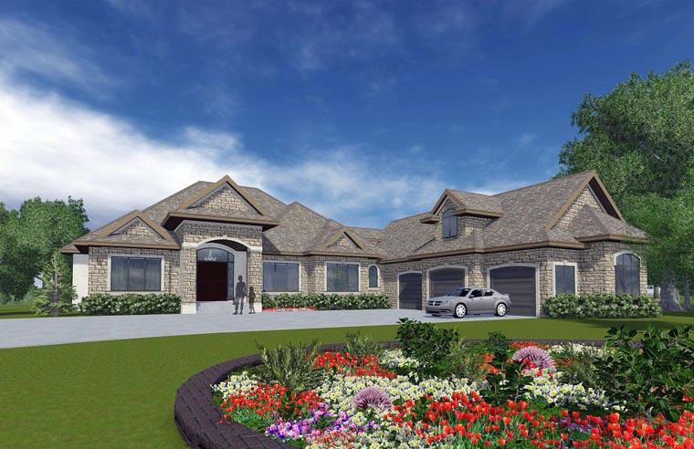 Craftsman European House Plan 81162 Elevation