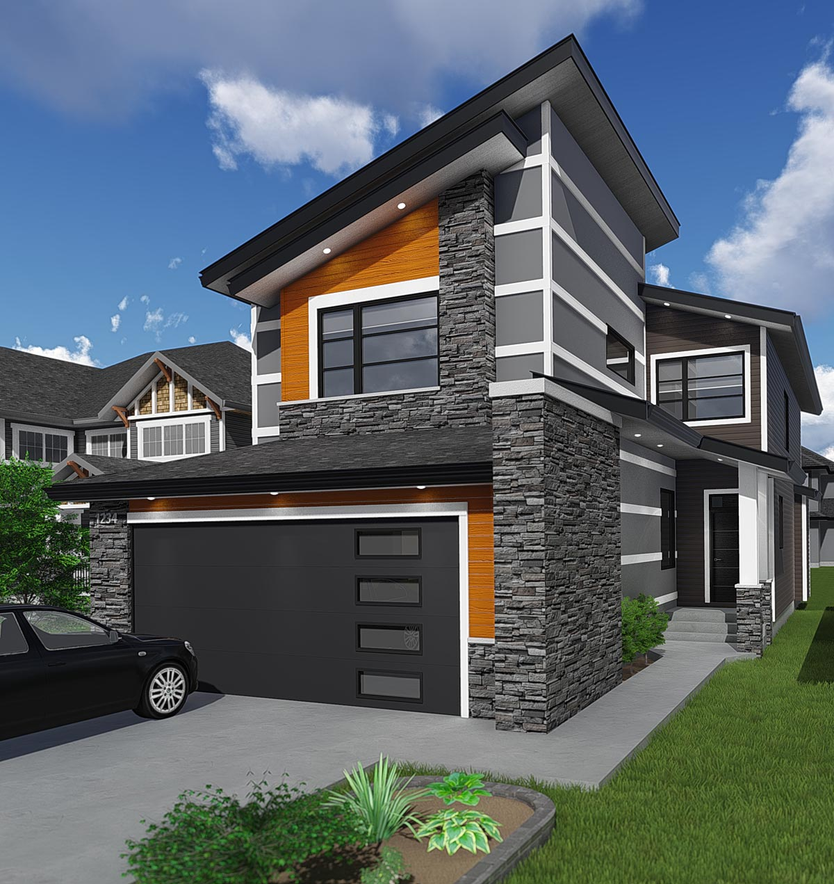 Modern Family Home Designs: House Plan 81186 At FamilyHomePlans.com