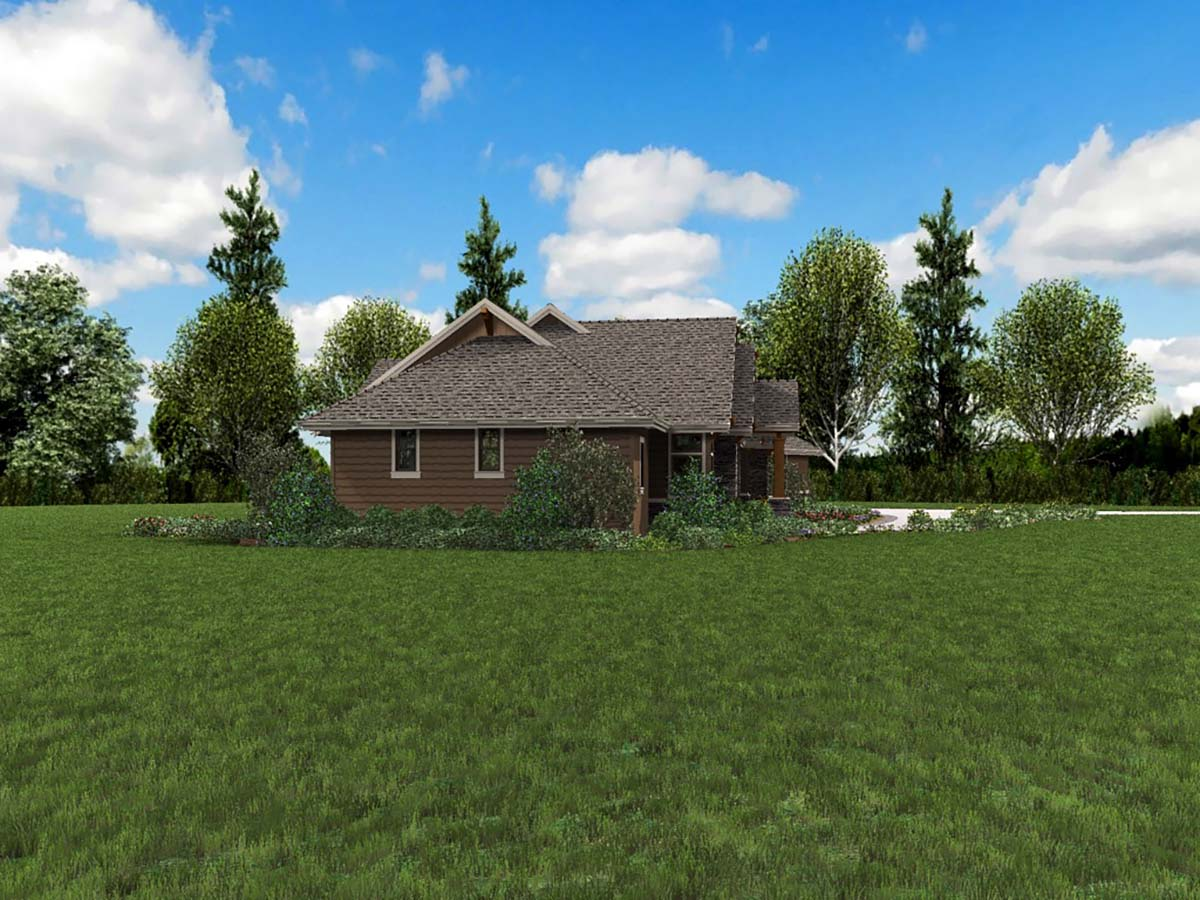 Craftsman, Ranch House Plan 81200 with 3 Beds, 3 Baths, 3 Car Garage Picture 2