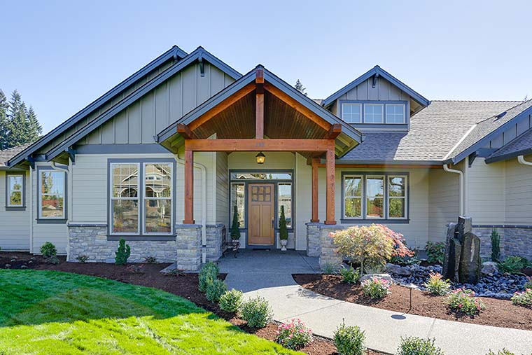 Craftsman, Ranch House Plan 81200 with 3 Beds, 3 Baths, 3 Car Garage Picture 5