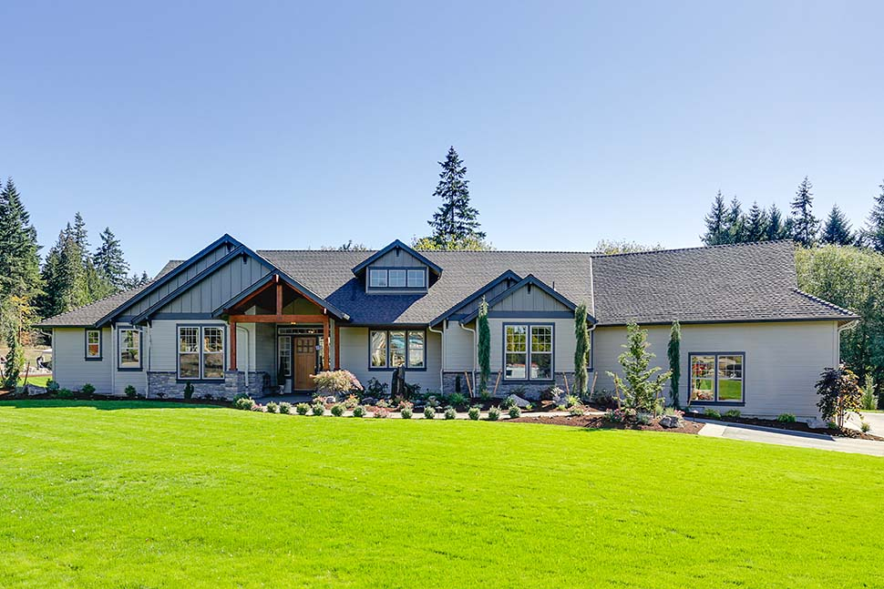 Craftsman, Ranch House Plan 81200 with 3 Beds, 3 Baths, 3 Car Garage Picture 9