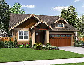 Craftsman , Cottage , Bungalow House Plan 81201 with 3 Beds, 2 Baths, 2 Car Garage Elevation