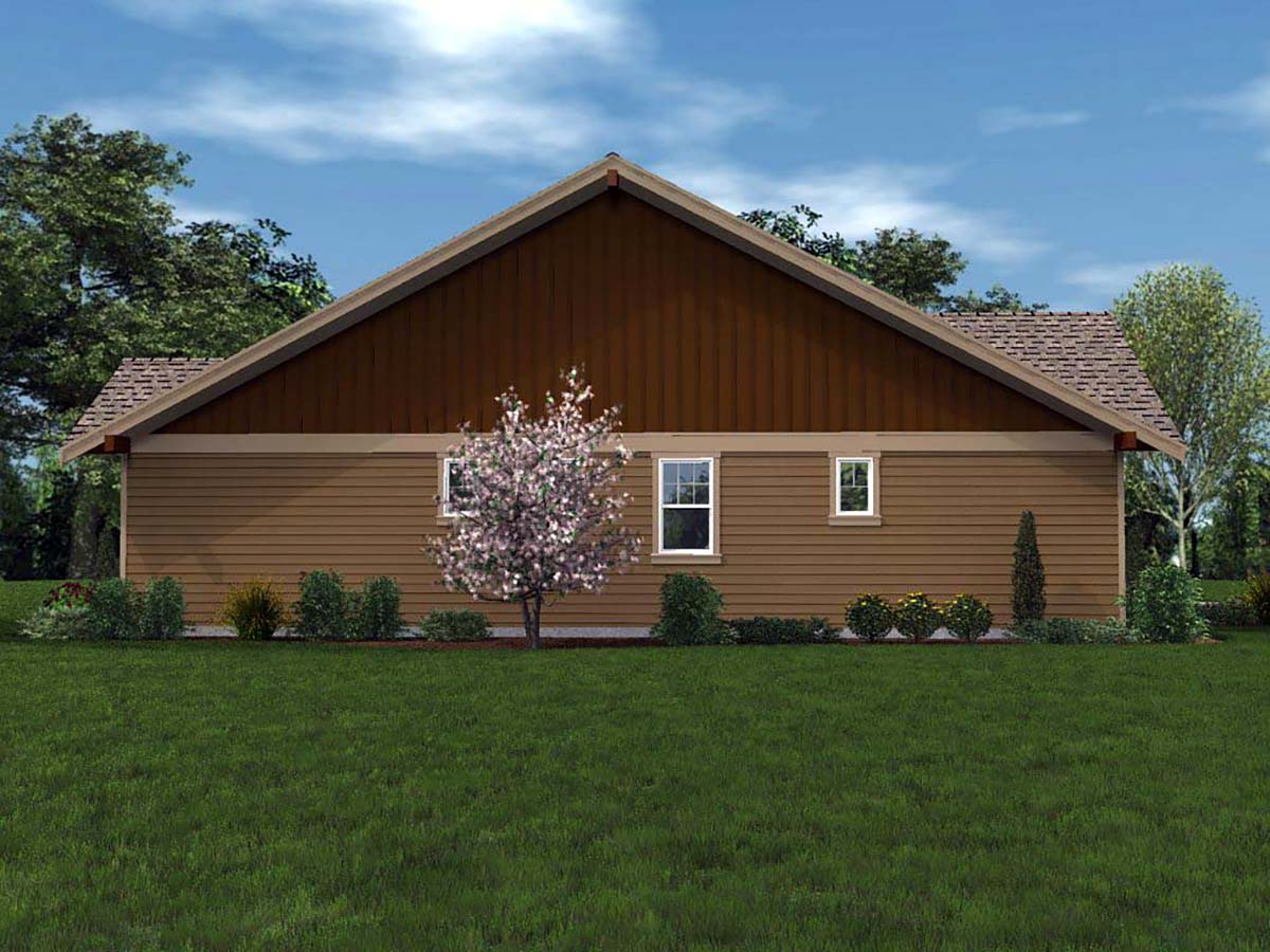 Bungalow, Cottage, Craftsman House Plan 81201 with 3 Beds, 2 Baths, 2 Car Garage Picture 2