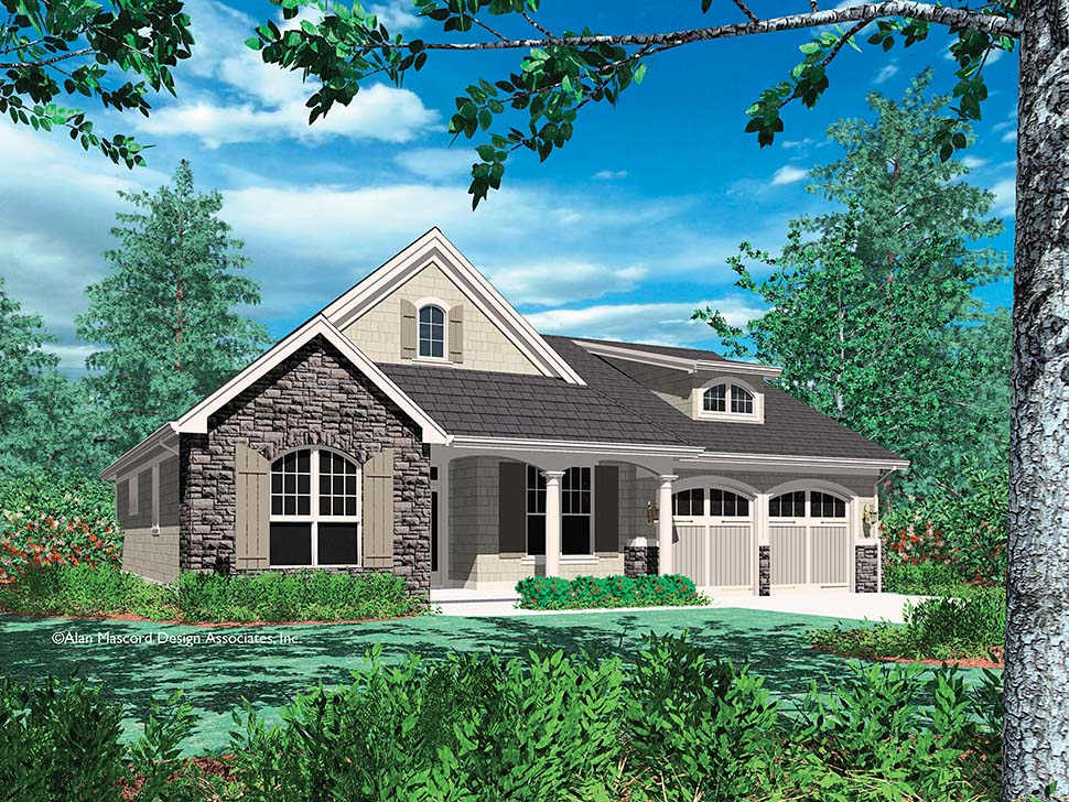 Cottage, Craftsman, French Country, Traditional House Plan 81202 with 3 Beds, 3 Baths, 2 Car Garage Picture 11