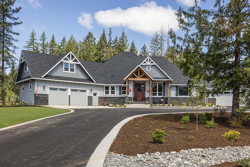 Country, Craftsman House Plan 81204 with 3 Beds, 3 Baths, 2 Car Garage Picture 1