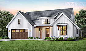 Contemporary , Farmhouse , Modern House Plan 81205 with 3 Beds, 2 Baths, 2 Car Garage Elevation