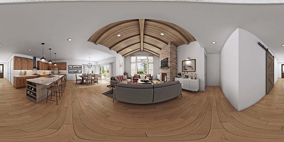 Country, Craftsman, Farmhouse House Plan 81205 with 3 Beds, 2 Baths, 2 Car Garage Picture 1