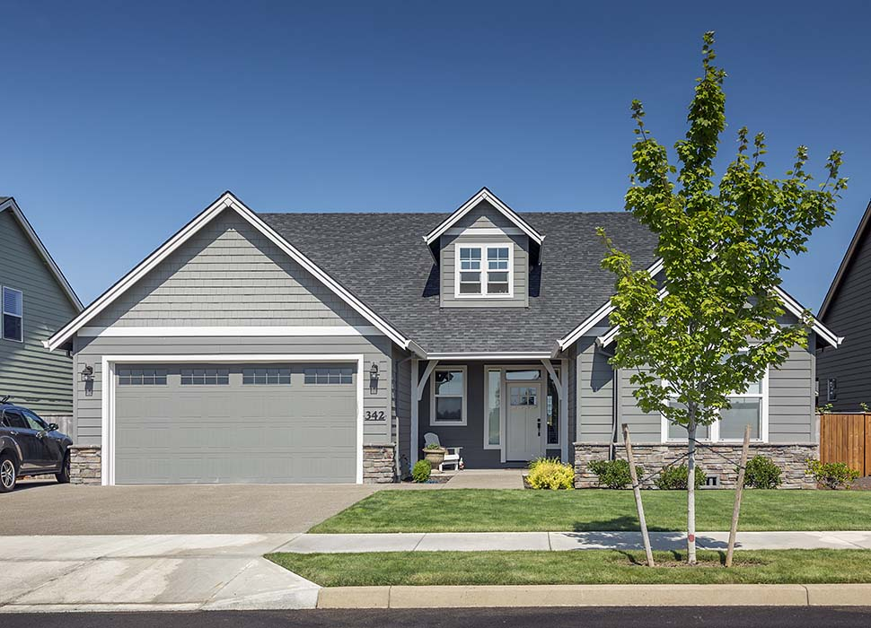 Country, Craftsman, Farmhouse House Plan 81205 with 3 Beds, 2 Baths, 2 Car Garage Picture 2