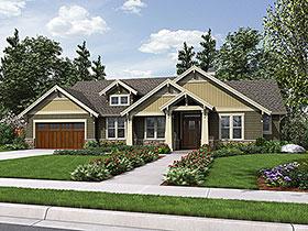 Bungalow , Craftsman House Plan 81206 with 3 Beds, 2 Baths, 2 Car Garage Elevation