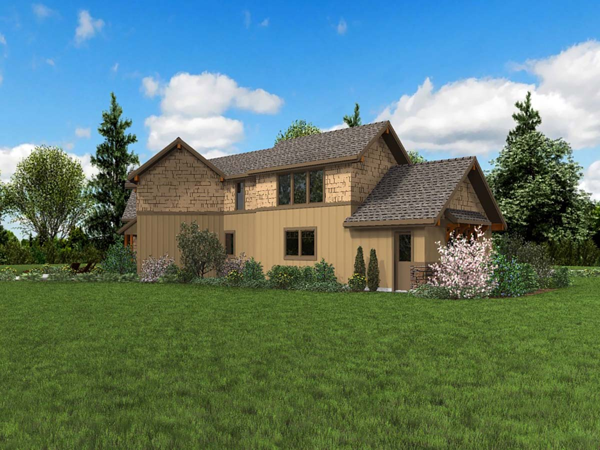 Craftsman, Ranch House Plan 81208 with 3 Beds, 3 Baths, 3 Car Garage Picture 2