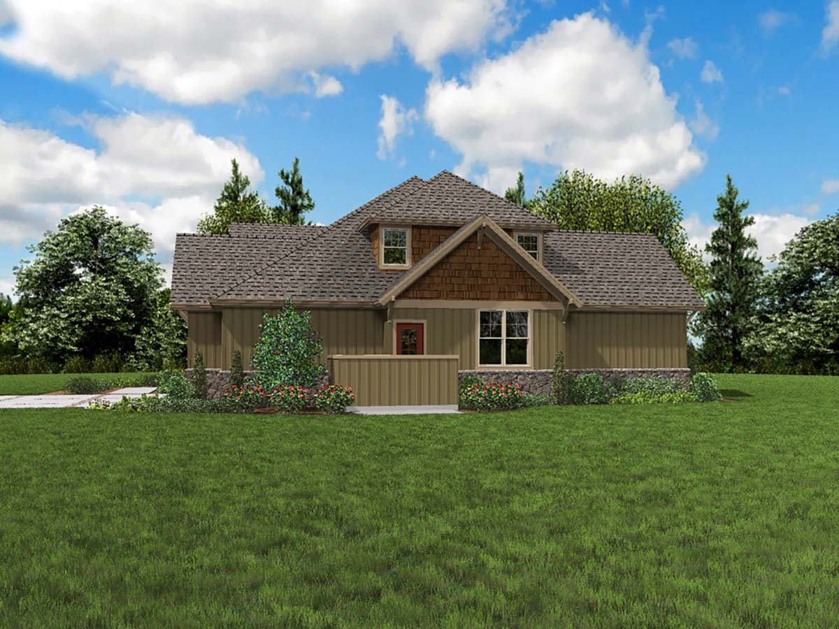 Bungalow, Craftsman House Plan 81209 with 3 Beds, 3 Baths, 3 Car Garage Picture 1