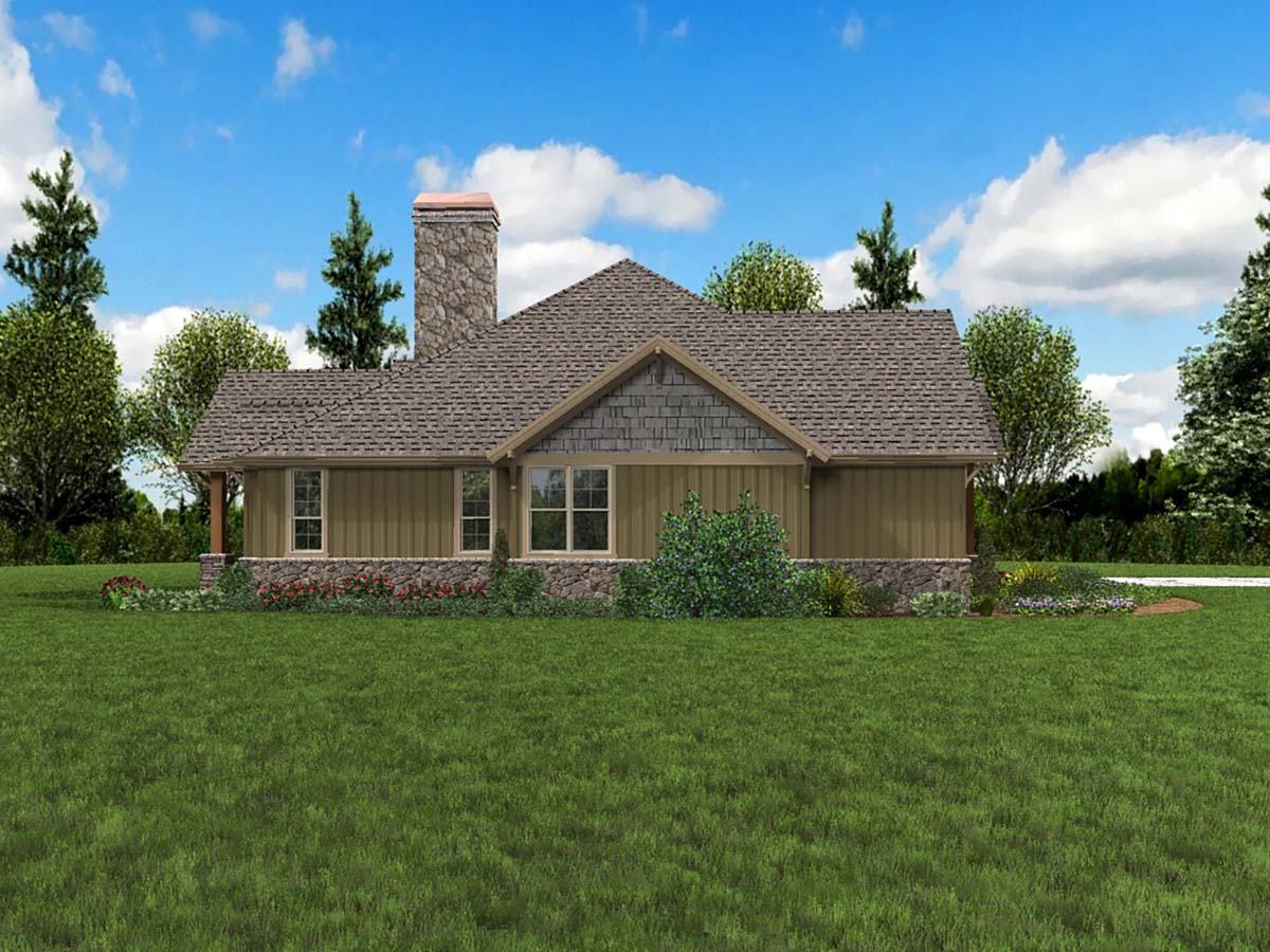 Bungalow, Craftsman House Plan 81209 with 3 Beds, 3 Baths, 3 Car Garage Picture 2