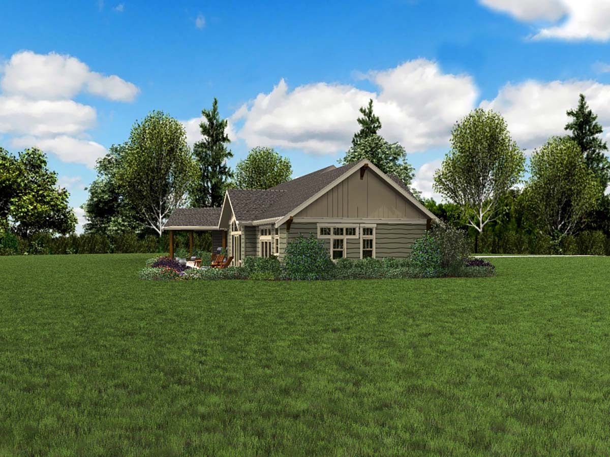 Craftsman, Ranch House Plan 81210 with 3 Beds, 3 Baths, 3 Car Garage Picture 2
