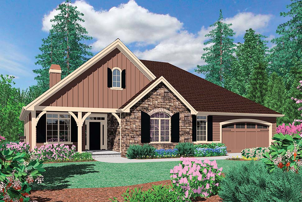 Craftsman, Ranch, Traditional House Plan 81212 with 3 Beds, 2 Baths, 3 Car Garage Picture 1